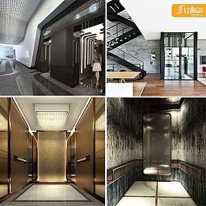 20 نمونه طراحی نما و اتاقک آسانسور