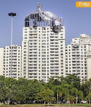 نصب مجسمه های غولپیکر ورزشکار در ریو، به مناسبت المپیک 2016