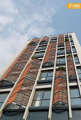 طراحی نما و معماری ساختمان اداری آصف