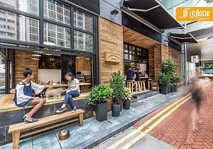 طراحی کافی شاپ در خیابان های هنگ کنگ