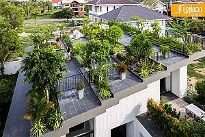 طراحی بی نظیر منزل شخصی با بام سبز