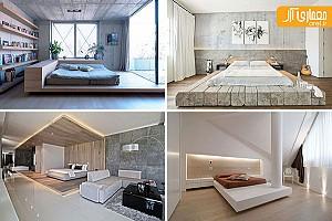 8 نمونه ایده طراحی اتاق خواب با استفاده از پلت فرم