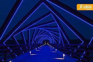 ایجاد تجربه ای متفاوت در عبور از پل عابر پیاده در آمریکا