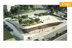 طراحی ساختمان انجمن هنرمندان صدرا توسط علیرضا تغابنی