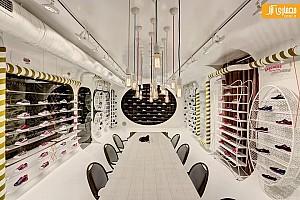 طراحی داخلی فروشگاه کفش اسکیچرز، شعبه استانبول