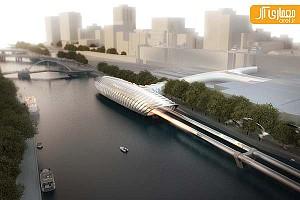 طرح پیشنهادی ایستگاه حمل و نقل Hyperloop