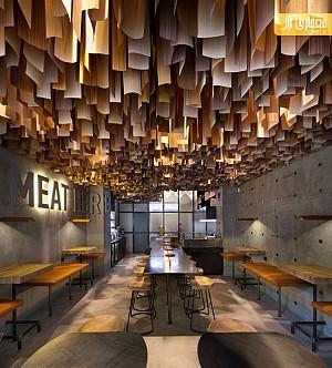 ایجاد یک طراحی درماتیک با سقف چوبی