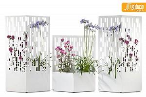 ایده ای از طراحی گلدان های دکوراتیو