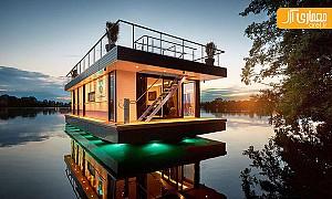 معماری ویلای لوکس شناور