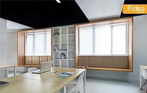 خلاقیت در طراحی صندلی متصل به پنجره در دفتر اداری