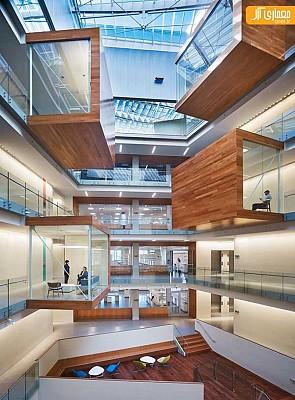 معماری و طراحی داخلی مرکز علوم تحقیقاتی