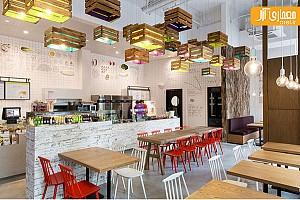 خلاقیت در طراحی روشنایی رستوران با استفاده از جعبه های چوبی