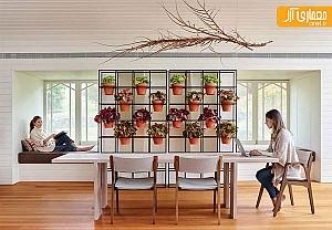 ایده طراحی شبکه ای به عنوان باغ عمودی خانگی