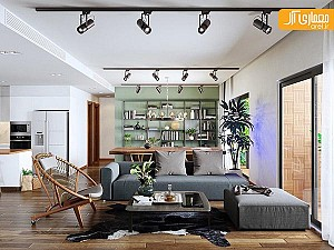 طراحی 2  آپارتمان ساده و دلنشین  با سبک اسکاندیناوی