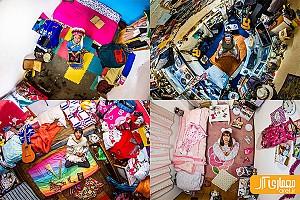 یک شنبه های عکاسی: اتاق خواب های جوانان در سراسر جهان چگونه است؟!