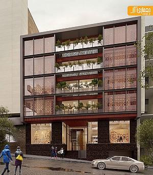 ساختمان تجاری اداری آصف اثری از محمدرضا نیکبخت