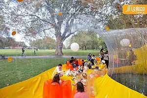 طراحی جالب سازه گنبدی -حبابی شکل در لندن