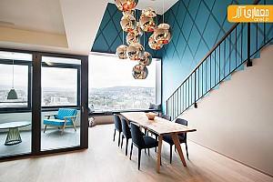 پنت هاوس دوبلکس با طراحی داخلی لوکس و مدرن