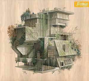 تصاویر گرافیکی معمارانه در فضای سورئال
