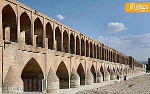 «سی و سه پل» اصفهان ترک برداشت!