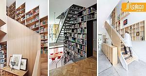 12 ایده الهام بخش از قفسه کتاب