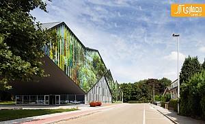 بازی رنگ ها در نمای ساختمان آکادمی هنر
