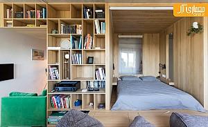 طراحی داخلی آپارتمانی با متراژ کمتر از 50 مترمربع