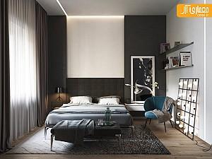 20 نمونه طراحی اتاق خواب، با تم رنگی سفید-مشکی
