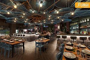 طراحی داخلی رستوران پست مدرن مکزیکی در ایتالیا