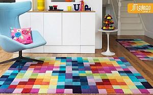 دکوراسیونی جذاب با فرش های رنگی رنگی!