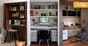 طراحی فضای کار در کمدهای دیواری، ایده ای برای آپارتمان های کوچک !