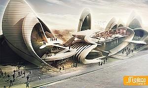 طراحی مرکز فرهنگی با الهام از بال حشرات