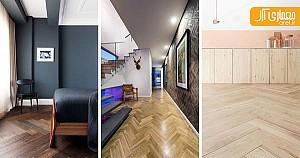 15 نمونه الهام بخش از کفسازی چوبی در دکوراسیون داخلی