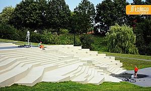 معماری  جالب پارک شهری  به صورت پلکانی
