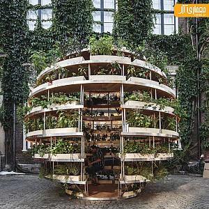 پاویونی تحت پوشش گیاهان!