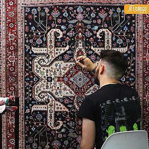 نقاشی فرش های پارسی توسط جیسون سیف
