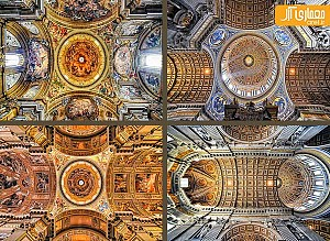 یک شنبه های عکاسی: 15 تصویر بی نظیر از سقف کلیساهای رُم
