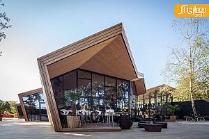 طراحی رستوران با الهام از هنر اوریگامی