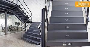 طراحی  پله هایی که  میزان کالری مصرفی را نشان می دهند !