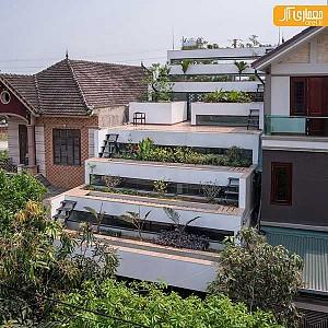 خانه ای در ویتنام با تراس های پلکانی