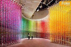 حرکت و بازی رنگ ها در نمایشگاه
