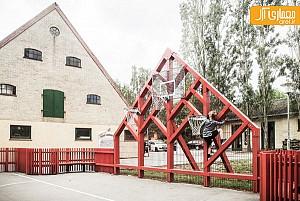 محیط خلاقانه بازی در حیاط مدرسه