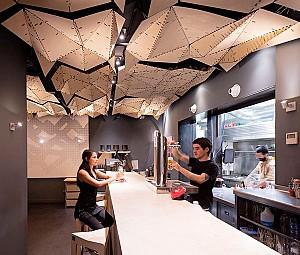 طراحی داخلی رستوران 100 متری لِکا در بارسلون