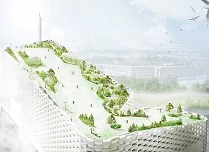 رندرهای نهایی پروژه گروه معماری بیگ از تبدیل کارخانه به پیست اسکی منتشر شد