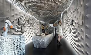 طراحی داخلی فروشگاه با بازیافت 60 هزار قوطی نوشیدنی
