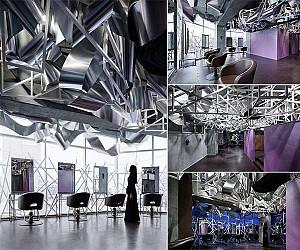 طراحی داخلی سالن زیبایی کریستال