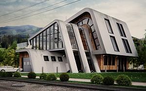 طراحی نما مسکونی با فرآیند نامتعارف