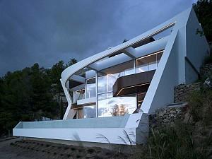 طراحی ویلای صخره ای Altea در اسپانیا
