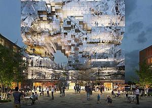 طراحی ساختمان اداری انعکاس از گروه معماری MVRDV