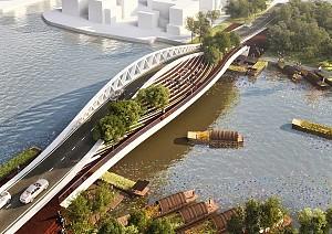 طراحی پل دوبل 80 متری شانگهای با خصوصیت معماری سبز